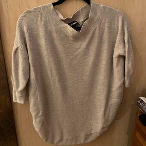 Express Quarter length sleeve cream sweater